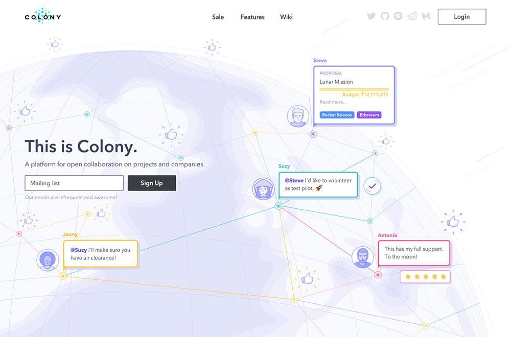 Colony brand story copy