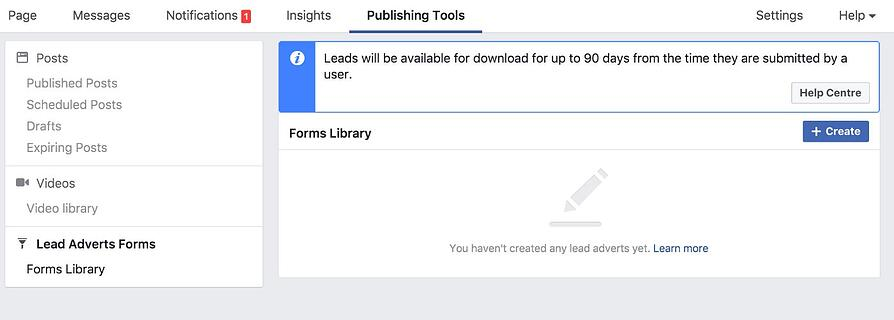 Publishing tools facebook