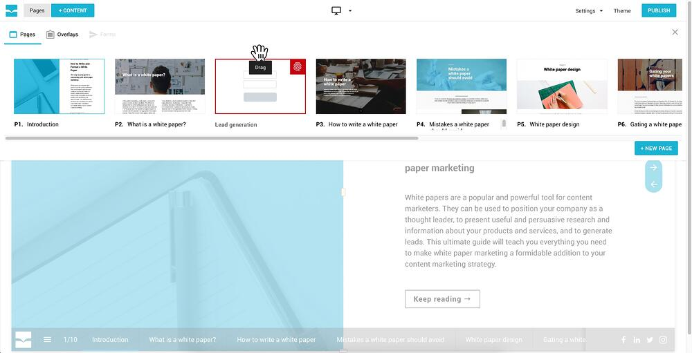 Connect Lead Gen to Page Grab