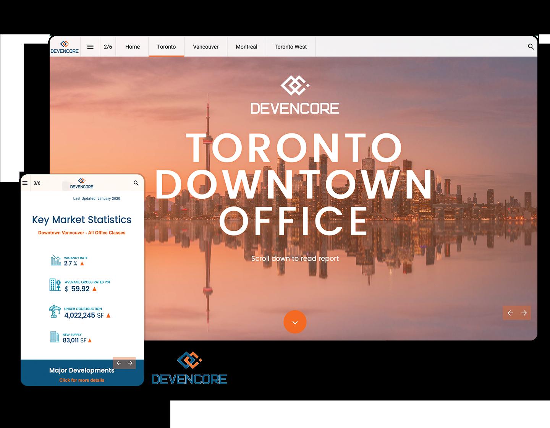 Devencore Interactive Market Report Example