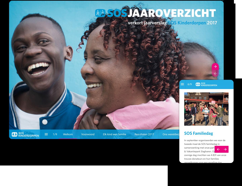 interactief jaarverslag voorbeeld SOS Kinderdorpen