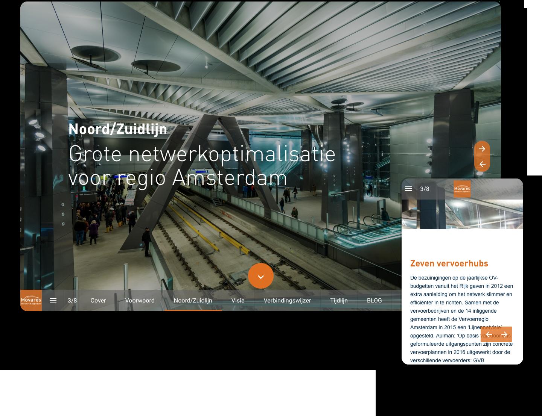 interactive magazine example movares
