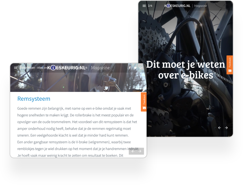 Kieskeurig Interactive Online Magazine Example