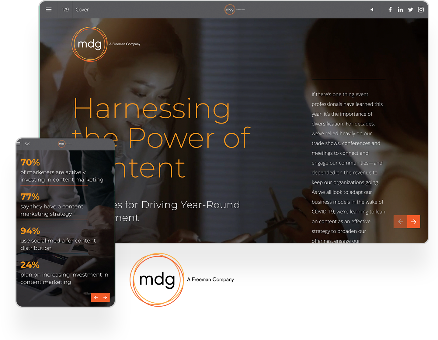 mdg content marketing guide example