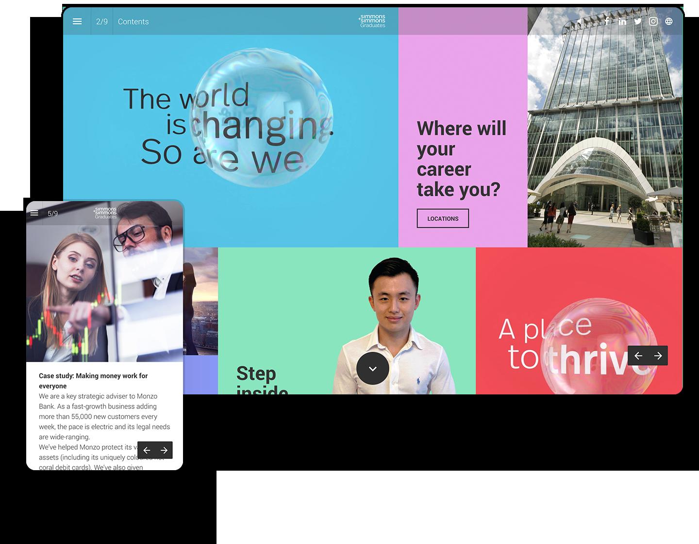 Interactive Graduate Brochure Example