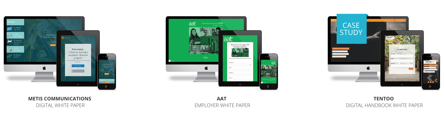 Responsive white paper examples