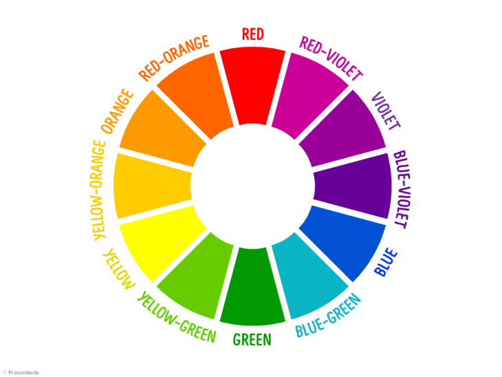 White paper color wheel