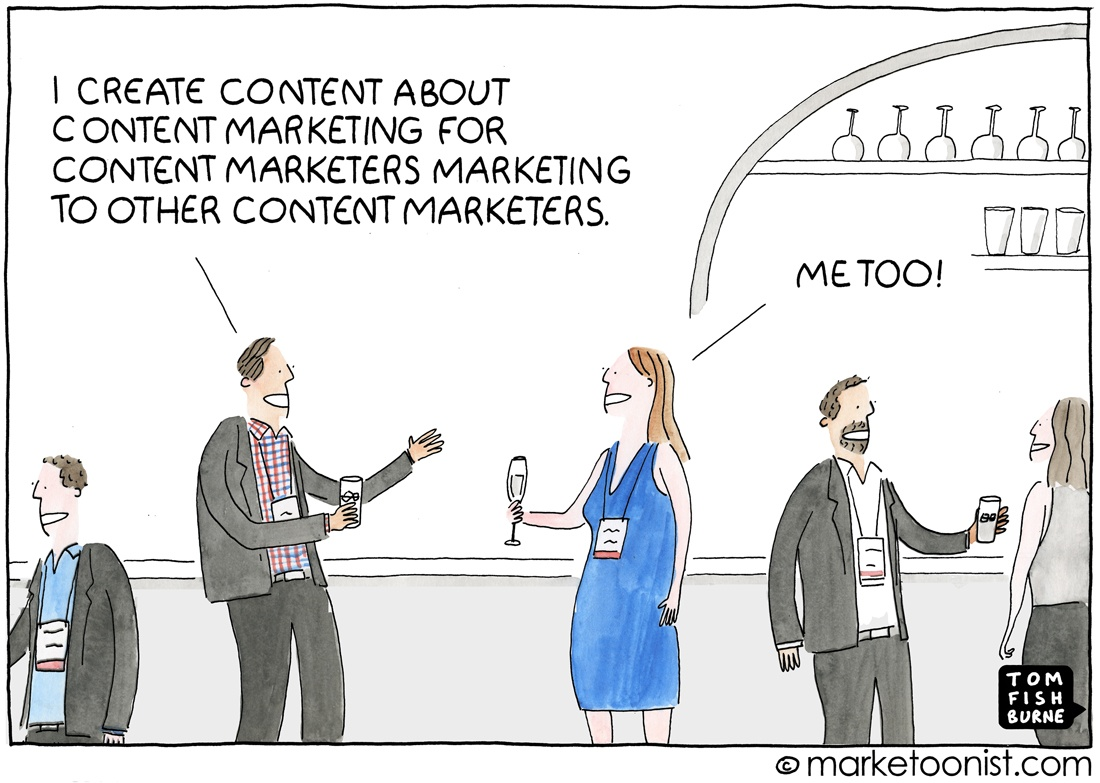 White paper content marketing cartoon