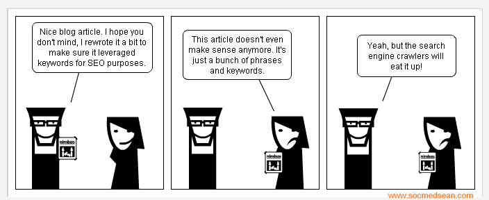 White paper SEO cartoon