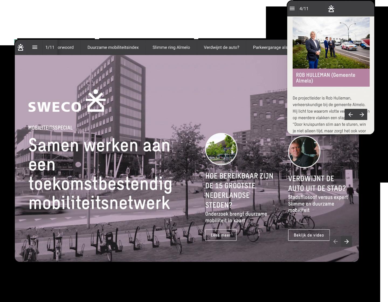 interactive example magazine sweco