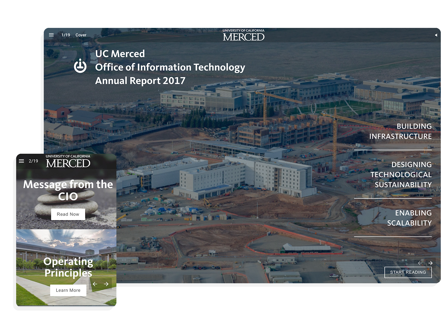 UC Merced engages new readers with immersive digital annual report
