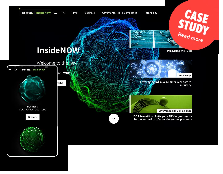 Deloitte Interactive Magazine Example